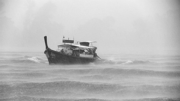 Yacht during a Rough Weather
